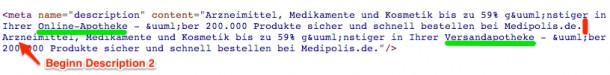 Multiple Meta Description von medipolis.de