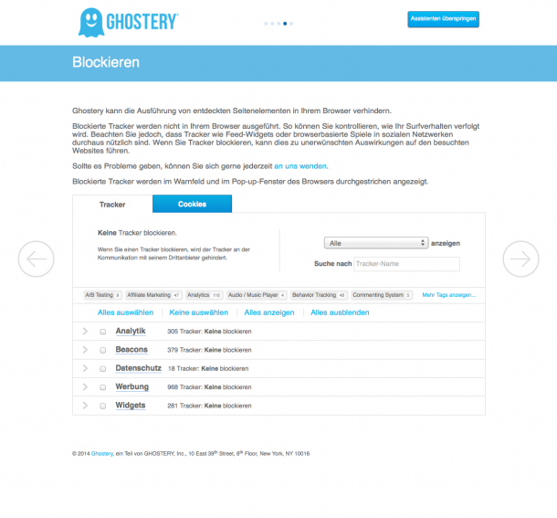 Ghostery Wizard