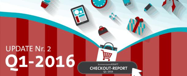 Infografik: Checkout-Report Q1-2016 (Update Nr. 2)