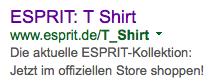 T-shirt Adwords Anzeige - 2