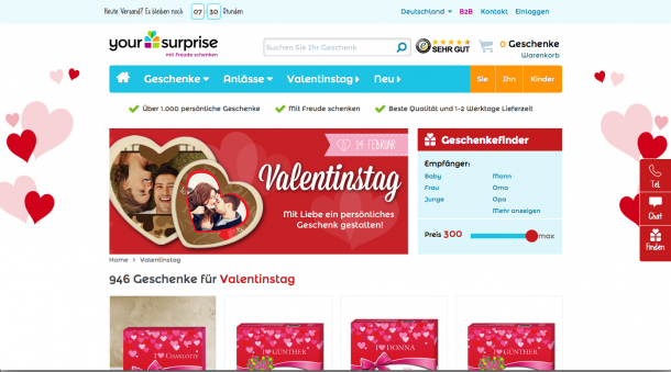 Valentinstag Adwords LP-2