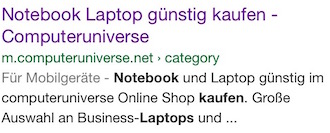 Orientierung positiv Google