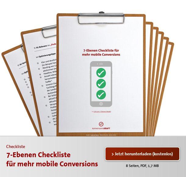 Download mobile Checkliste
