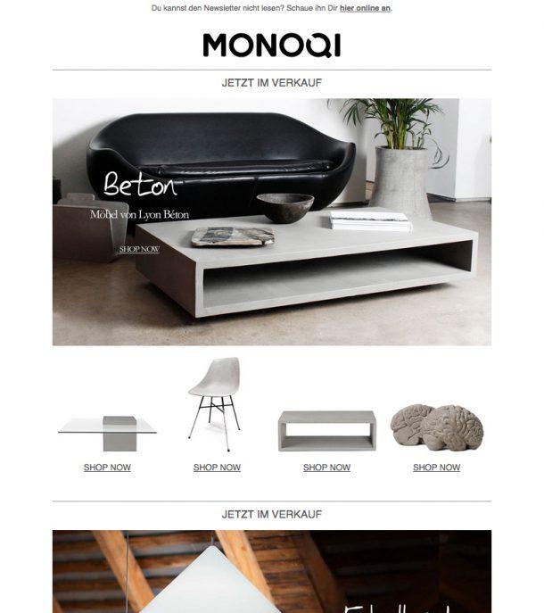 monoqi - newsletter