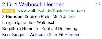 Stimulanz Walbusch