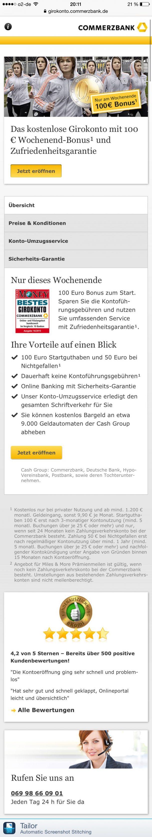 Vertrauen positiv Commerzbank