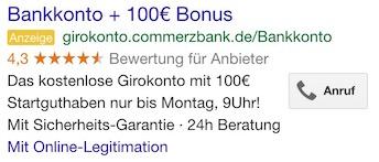 Vertrauen positiv Commerzbank Google
