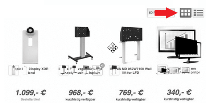 Usability Fehler Produktbilder