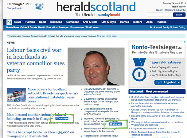 Heraldscotland online dating blog
