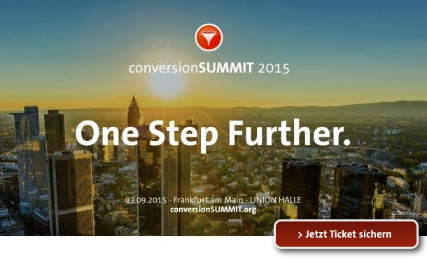 conversionSUMMIT 2015 - One Step Further