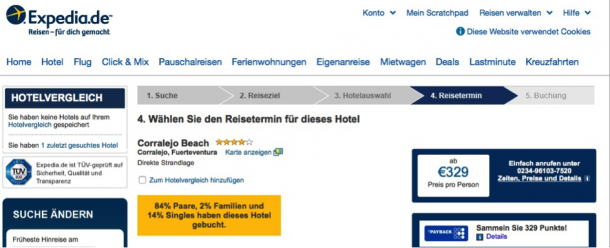 Affiliation bei expedia.de