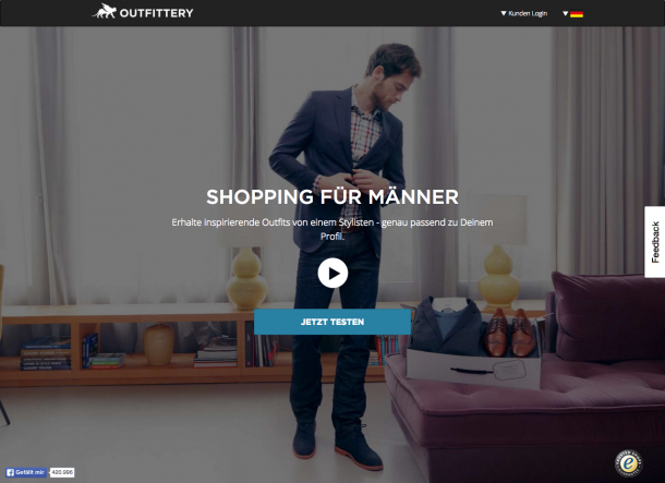 Landingpage Outfittery