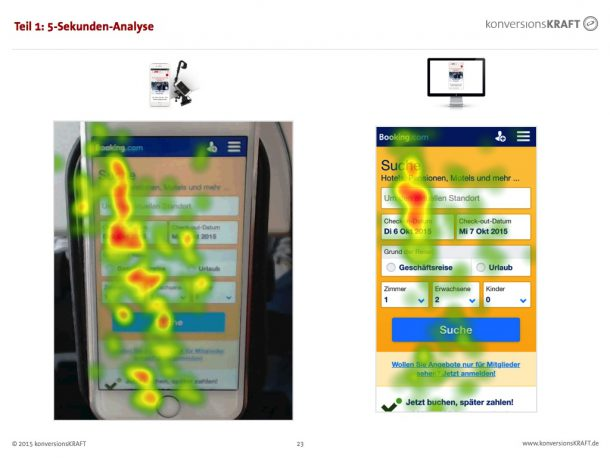 Smartphone Eye Tracking - Heatmap