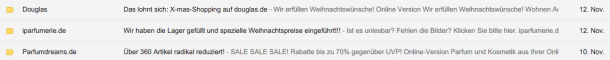 Newsletter im Posteingang