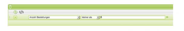 Abbildung 15: Filter für Vielbesteller im Analytics Tool einrichten.