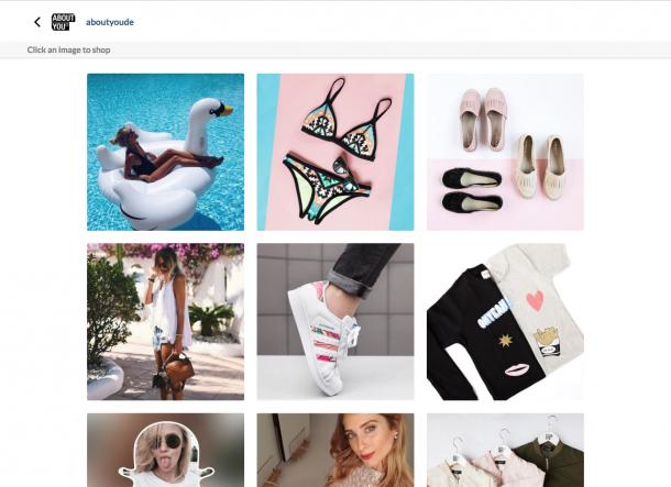 Shopable Instagram von Asos