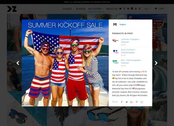 Im Shop lassen sich alle auf Instagram präsentierten Produkte auch direkt kaufen.