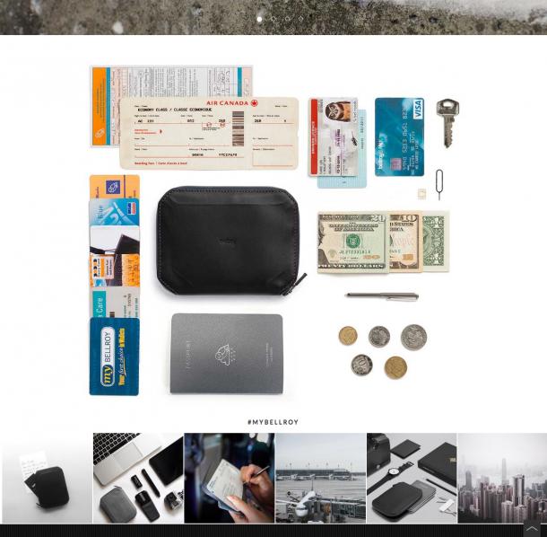 Instagram-Bilder am Ende der Produktdetailseite für einen besseren Einblick in die Produkte bei Belroy.