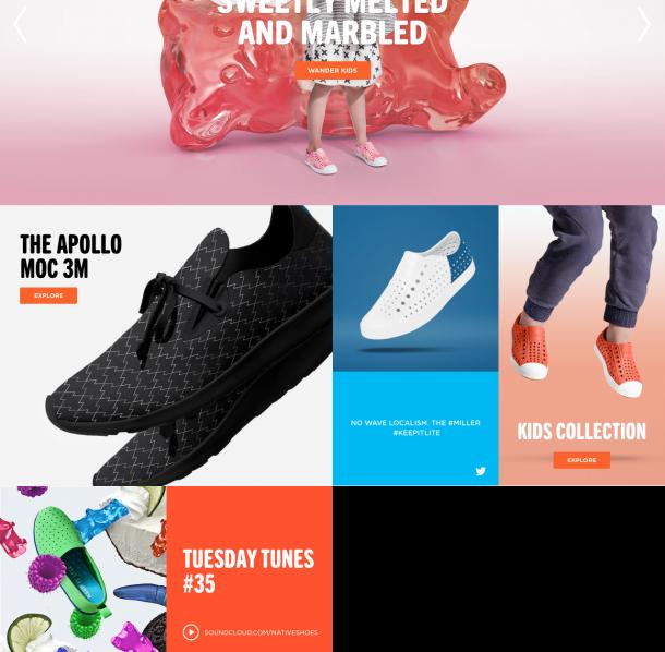 Integration der Musik von Soundcloud auf der Startseite von native shoes.
