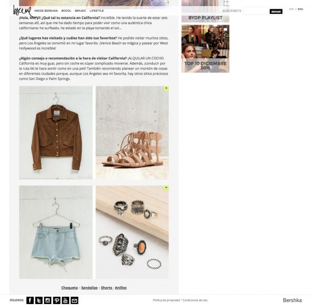 Im Blog findet der Nutzer Berichte über das Festival mit passenden Outfits, die im Shop erworben werden können.
