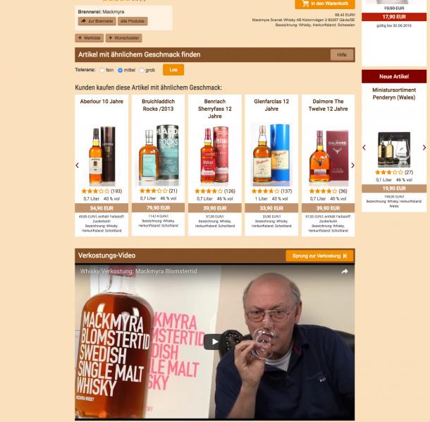 Bei whisky.de werden alle Flaschen genau unter die Lupe genommen und auf Youtube ausführlich bewertet.