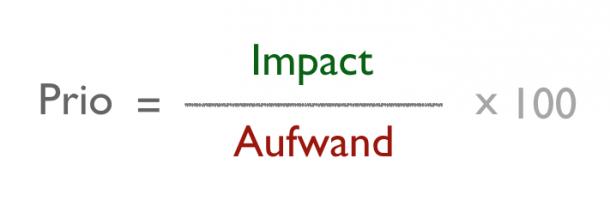 Priorisierung durch Aufwand und Impact