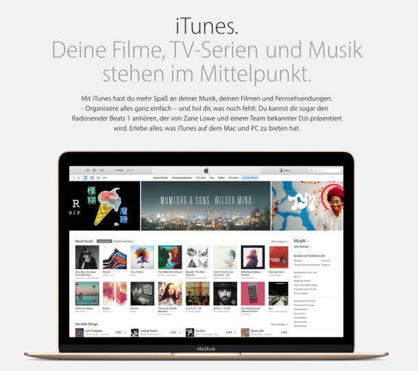 Produkttexte DEINS - iTunes