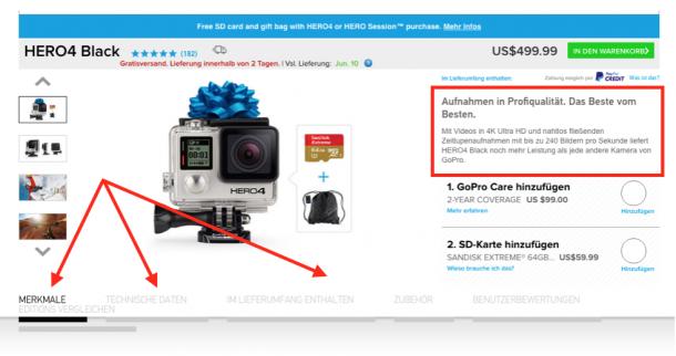 Produkttexte Intro - GoPro