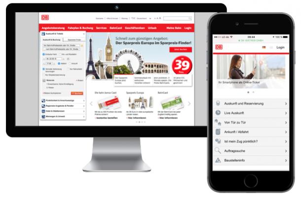 Deutsche Bahn - Desktop vs. Mobile