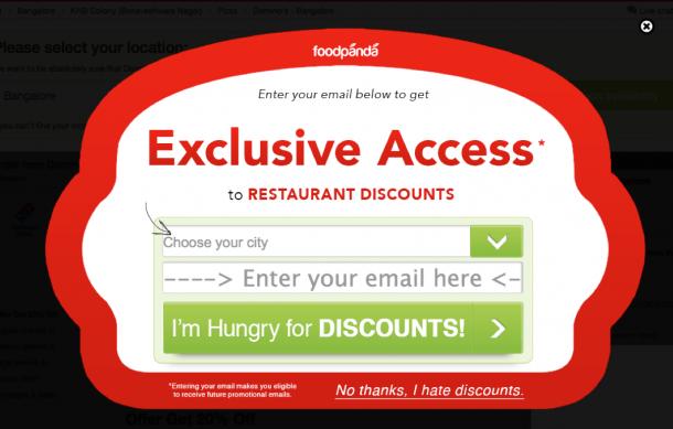 Einsatz von Kognitiver Dissonanz auf Foodpanda.com