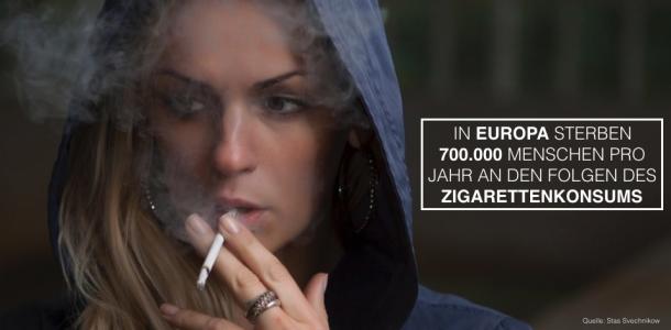Abb. 1 Tote durch Zigarettenkonsum in Europa