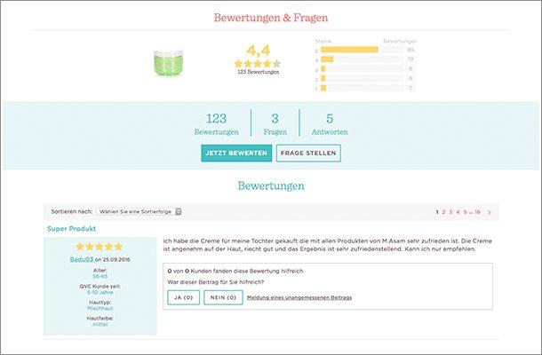 Neben einem guten Storytelling setzt QVC sehr stark auf seine Nutzer und die Community.