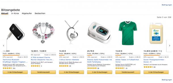 Verknappung auf Amazon.de