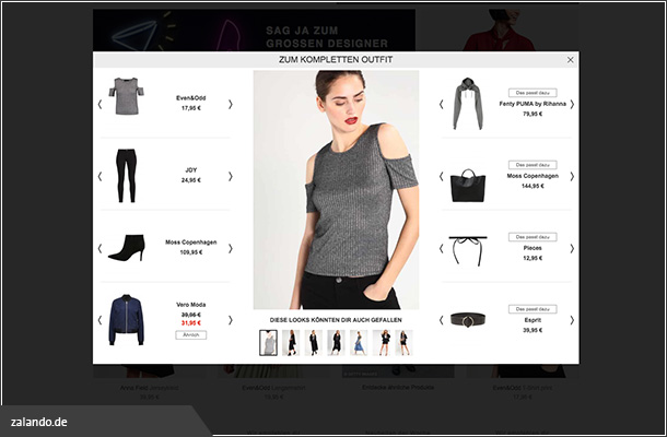 Completion bei Zalando