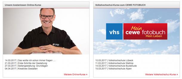 CEWE online kurse