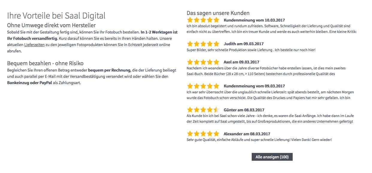 Website Analyse aus Nutzersicht - Fotobuch-Anbieter im Test