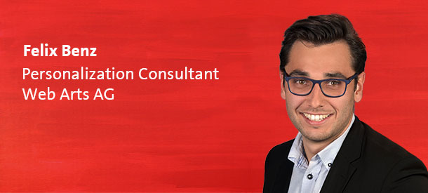 Autor Felix Benz - Personalization Consultant - Web Arts AG