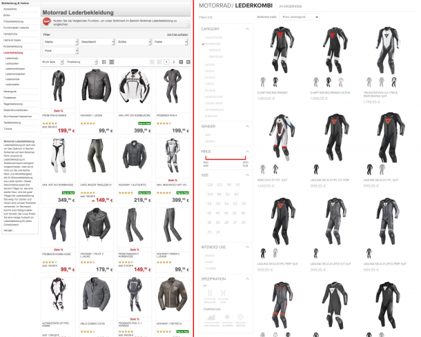 Qualitative_Analyse_Conversion_Frameworks_Louis vs. Dainese