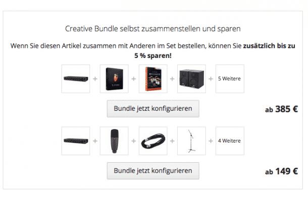Operatoren werden gerne geutzt um Elemente zu verknüpfen, z.B. zu sehen bei bei Thomann.de