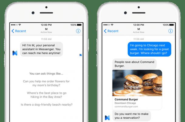 Facebook M - Messanger Bot als Persönlicher Assistent