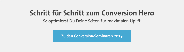 Conversion Seminare buchen