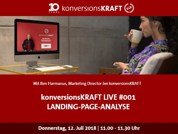 Facebook Live Landing-Page-Analyse