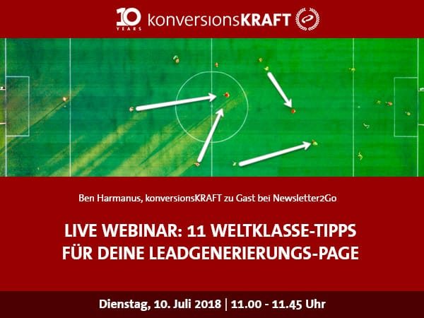 Webinar Leadgenerierungs-Landing-Pages