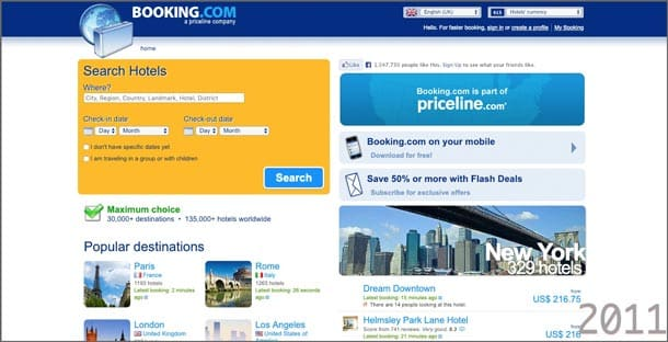 Status Quo Bias: Kein radikales Relaunch bei Booking.com
