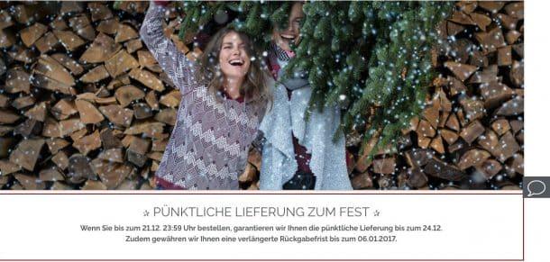 Zero-Risk-Bias zu Weihnachten: Pünktliche Lieferung und verlängerte Rückgabefrist