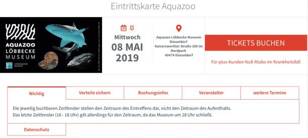 Null-Risiko-Tickets für plus-Kunden im Aquazoo Löbbecke Museum Düsseldorf