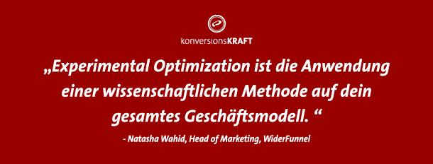 Experiemental Optimization: Eine wissenschaftliche Methode für Testing-Erfolg.
