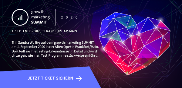 Triff Sandra Wu live auf dem growth marketing SUMMIT 2020