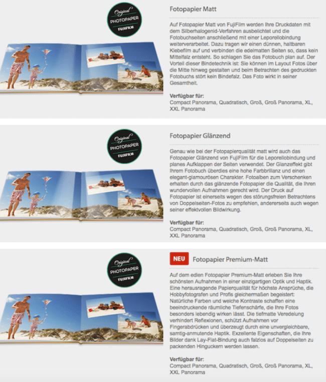 7 Ebenen Modell: Beispiel Produktdetailseite Fotobücher