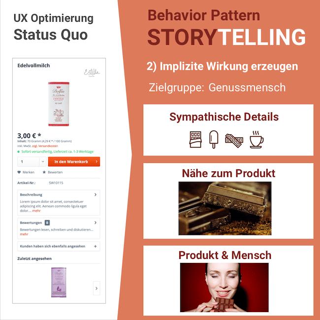 Mit Storytelling Wirkung erzeugen: Implizite Wirkung durch UX-Optimierung erzeugen